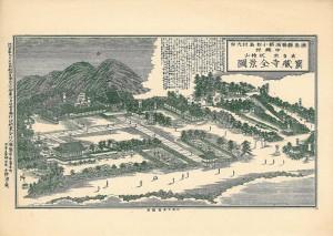 宝蔵寺全景図(明治37年発
